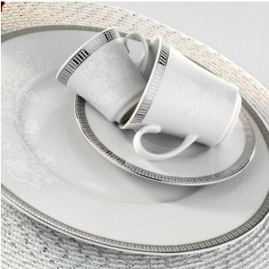 Kutahya Porselen IRIS 97 Pieces 514620 Patterned Dinnerware Set
