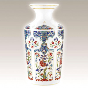 Kutahya Porselen EL25VZ01415 Hand Painted Antique Vase