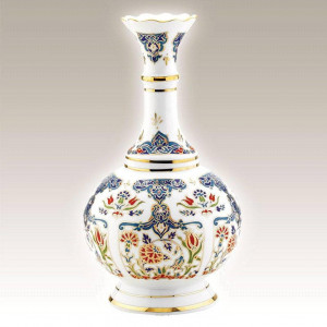 Kutahya Porselen HL25VZ01415 Hand Painted Antique Vase
