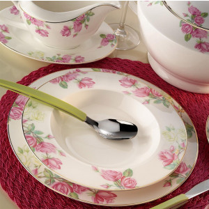 Kutahya Porselen BONE CHINA 84 Pieces 25139 Patterned Dinnerware Set