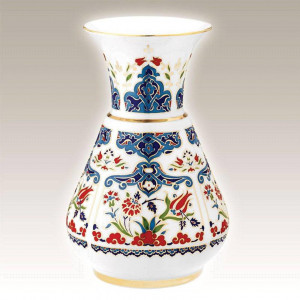 Kutahya Porselen KN20VZ01415 Hand Painted Antique Vase