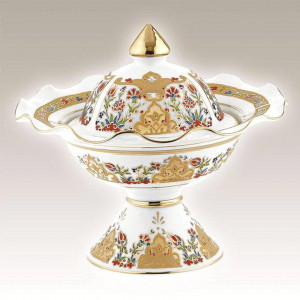Kutahya Porselen HH22SK01412 Hand Painted Sugar Bowl