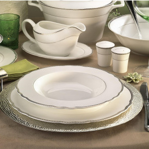 Kutahya Porselen ASPENDOS BONE 84 Pieces 25149 Patterned Dinnerware Set