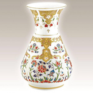 Kutahya Porselen KN20VZ01412 Hand Made Antique Vase