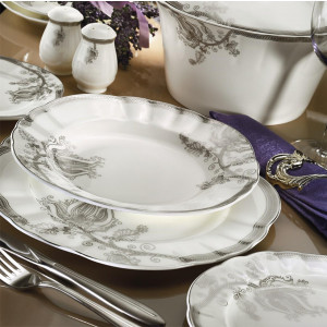 Kutahya Porselen MITTERTEICH ROMANS 84 Pieces 50118 Patterned Dinnerware Set