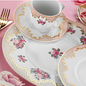 Kutahya Porselen FINE BONE Patterned 82 Pieces 8657 Dinnerware Set