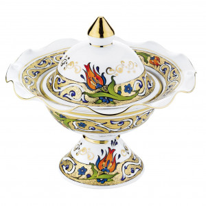 Kutahya Porselen HH22SK1353824 Hand Made Sugar Bowl