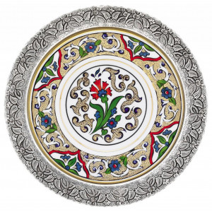 Kutahya Porselen YO17DT1673824 Hand Painted Antique Wall Plate