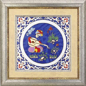 Kutahya Porselen KR20PN04885 Hand Made Antique Panel