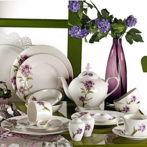 Kutahya Porselen LEONGBERG 42 Pieces 7744 Patterned Dinnerware Set