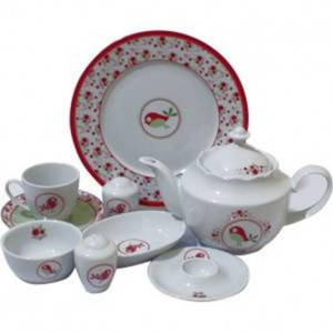 Kutahya Porselen 33 Pieces 9383 Patterned Dinnerware Set
