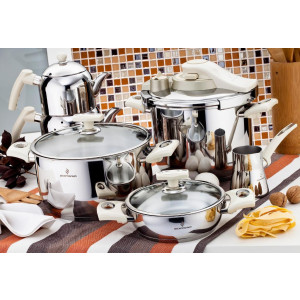 Sofram KUPON 22 Pieces Cream Cookware Set