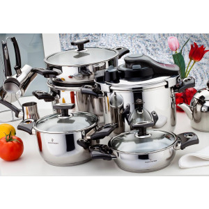 Sofram KUPON 22 Pieces Black Cookware Set