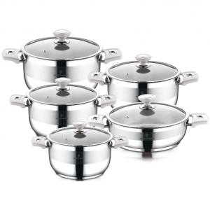 Sofram NOVA 10 Pieces Cream Cookware Set