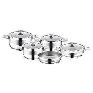 Sofram NOVA 9 Pieces Cream Cookware Set