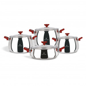 Sofram VENUS 8 Pieces Red Cookware Set