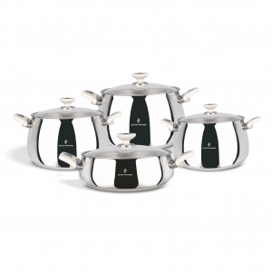 Sofram VENUS 8 Pieces Cream Cookware Set