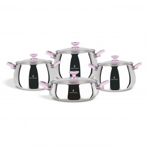 Sofram VENUS 8 Pieces Pink Cookware Set
