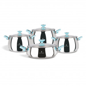 Sofram VENUS 8 Pieces Turquoise Cookware Set