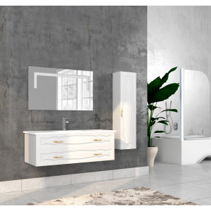 Bathroom washbasin with cabinet 3 pieces 1052