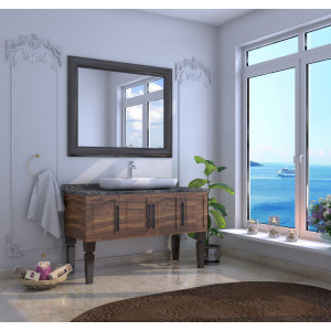 Bathroom washbasin with cabinet 2 pieces 1065
