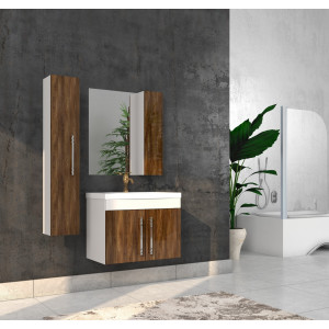 Bathroom washbasin with cabinet 3 pieces 1003