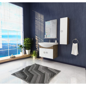 Bathroom washbasin with cabinet 3 pieces 201