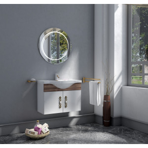 Bathroom washbasin with cabinet 2 pieces 1002