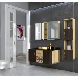 Bathroom washbasin with cabinet 3 pieces 1034