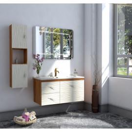 Bathroom washbasin with cabinet 3 pieces 1004