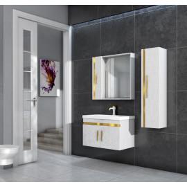 Bathroom washbasin with cabinet 3 pieces 1026