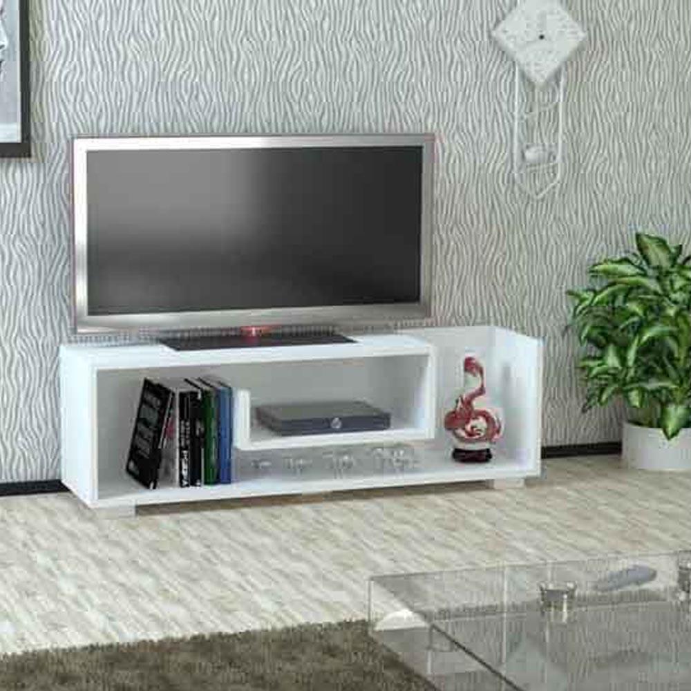 طاولة تلفزيون جونيور لون أبيض و جوزي (KL3-136)