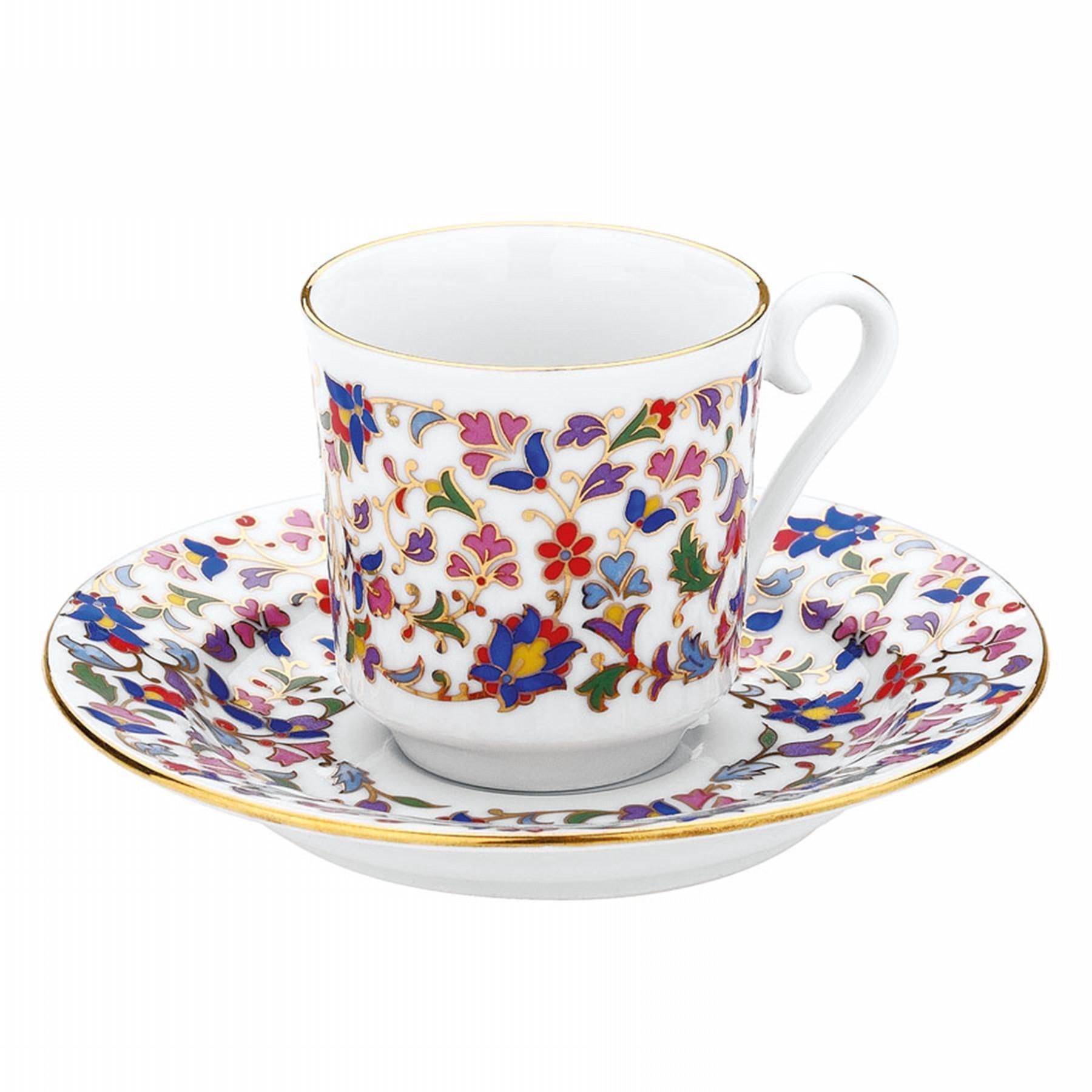 كوتاهيا بورسلان 3645 هاندمد طقم قهوة مزخرفة يدويا للشخصين