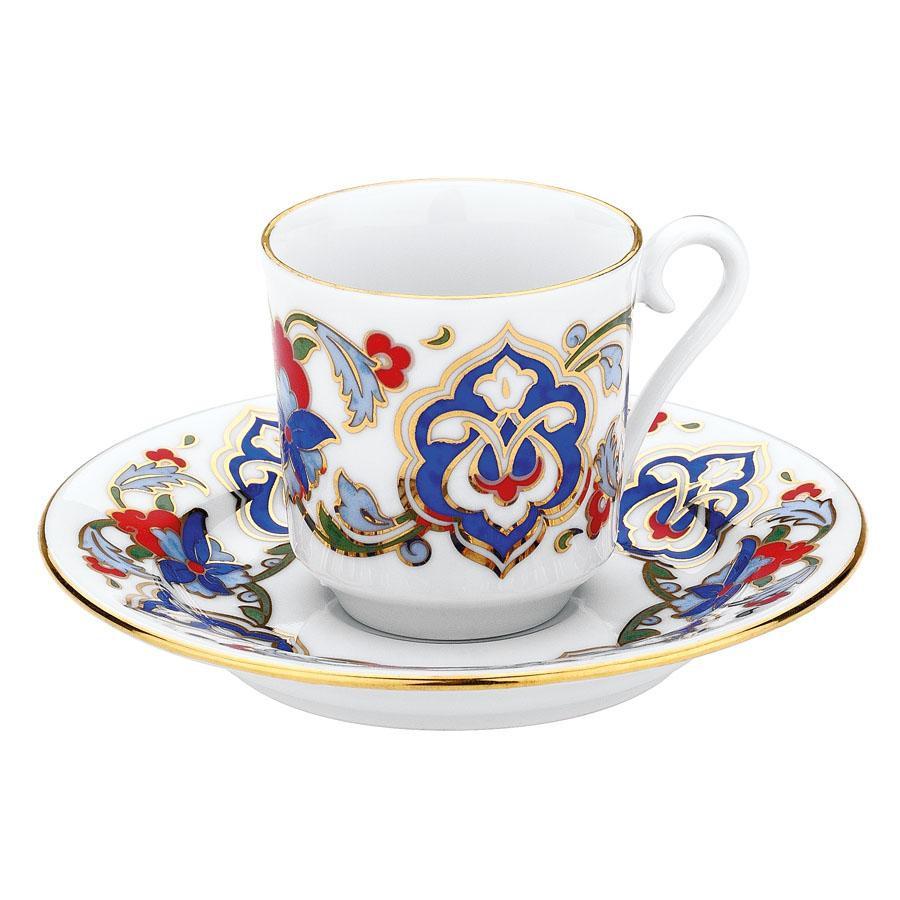 كوتاهيا بورسلان GZ12KT07557 طقم قهوة مزخرفة يدويا للشخصين