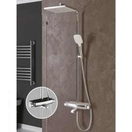 Mira Thermostatic 3 Way Shower Column-Black