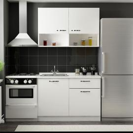 Cool Kitchen Cabinet 120 cm White