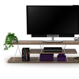 طاولة تلفزيون رافيفي  مع رف لون جوزي (RE3-132)
