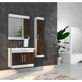 Bathroom washbasin with cabinet 3 pieces 1012