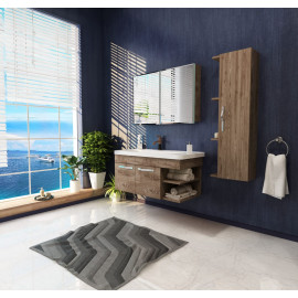 Bathroom washbasin with cabinet 3 pieces 1058