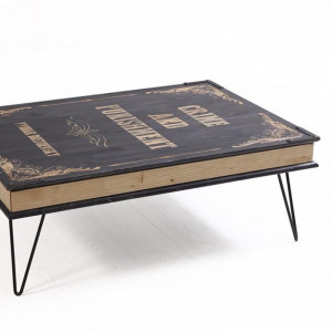 BOOK TABLE BLACK (HO3-240)