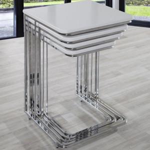 VEGAS ZIGON COFFEE TABLE WHITE (VY3-146)