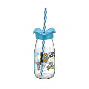 Fırfır Decorated Milk Bottle With Straw 250 cc (151966)