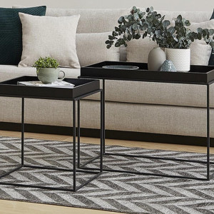 FIKA COFFEE TABLE SET BLACK (LG8-319)