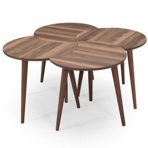 CLOVER COFFEE TABLE WALNUT (UU3-105)