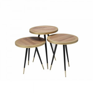 THESSALONIK NUTS-GOLD COFFEE TABLE (BA3-997)