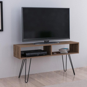 ALYA TV METAL STAND WITH WALNUT (DI3-467)