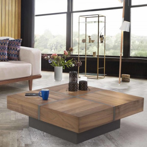 TUAL WALNUT-ANTHRACITE COFFEE TABLE (BA3-960)