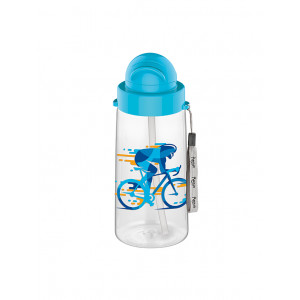 Migo 500 cc Decorated Water Bottle With Straw (900043)