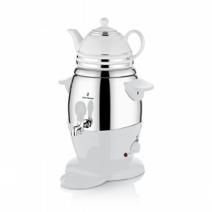 سوفرام إبريق شاي كهربائي بورسلان  لون أبيض