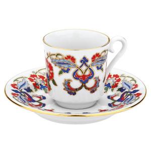 كوتاهيا بورسلان GZ12KT07452 طقم قهوة مزخرفة يدويا للشخصين